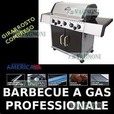 BARBECUE A GAS + FORNELLO + GIRARROSTO HUNTINGTON REBEL 5 NO LEGNA NO WEBER
