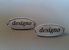 2 Mercedes-Benz AMG DESIGNO emblems symbol plates for seats,covering,mats,small