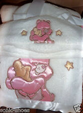 Care Bears baby cozy blanket with white hat and blanket new!