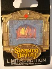 Disney Pin DLR Sleeping Beauty Castle Walk Through Burning Spinning Wheels LE