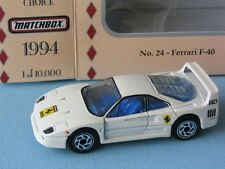 Matchbox Collectors Choice Ferrari F40 White USA Italian Sports Car Toy Model