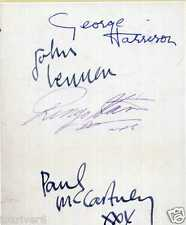 THE BEATLES Signed Note - John Lennon / Paul McCartney Harrison etc - preprint