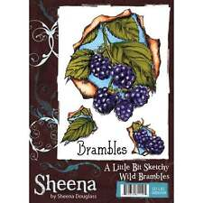 Sheena Douglass  A Little Bit Sketchy WILD BRAMBLES Unmounted Rubber Stamp A6