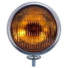 CHROME VINTAGE AMBER FOG LIGHT 6 VOLT  CARS TRUCKS BOATS MOTORCYCLE 1 PC