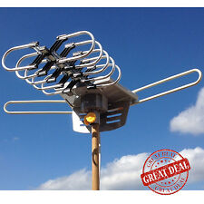 Best Long Range Outdoor Hdtv Antenna Digital TV 150 M Amplified Remote Control