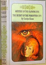 NANCY DREW, #51 GLOWING EYE,#52 FORGOTTEN CITY,HC,USA,VG,C.KEENE