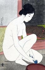 Bathroom Art Pictures Bath Wall Decor Japanese Asian 11x17 by Hashiguchi Goyo