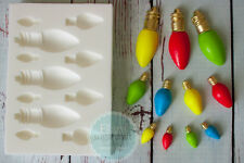 Multi Christmas Tree Lights, Fairy Lights, Light Bulb Silicone Mould M219