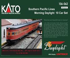 """Kato 106-062 N Scale Southern Pacific Lines """"Morning Daylight"""" 10 Car Set"""