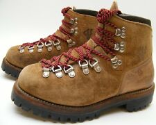 MENS VINTAGE VASQUE USA MADE BRN SUEDE LEATHER MOUNTAINEERING BOOTS SZ 5.5~1/2 D