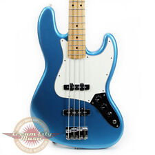Brand New Fender Standard Jazz Bass Lake Placid Blue MN Maple Neck J Bass
