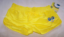 Spongebob Squarepants Ladies Yellow Printed Board Shorts Size 14 New
