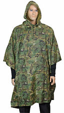 Arid Woodland Camo EMERGENCY PONCHO - Ripstop Waterproof One Size Fits All