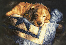 Cross Stitch Kit ~ Dimensions Snooze Golden Retriever Puppy Dog Nap #3220