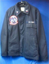 U.S.S. Anchorage Deck Jacket with P3C Patron Fifty Patch Original US Navy LSD-36