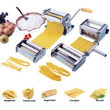 5 in 1 Stainless Steel Pasta Lasagne Spaghetti Tagliatelle Ravioli Maker Machine