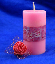Rose Scented Pillar Candle Wax Aromatic Candles Wedding Party Home Decoration