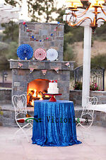 New Sparkly Sequin Tablecloth 48''-132'' Round for Wedding/Dessert Dinning Table