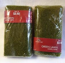 Christmas Village Supplies Green Lawn Fake Artificial Grass Holiday Time 2 Packs