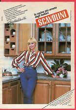Pubblicità Advertising Werbung 1985 cucine SCAVOLINI - Raffaella Carrà