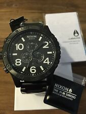 New Authentic Nixon 5130 51-30 Chrono All Black Watch A083-001 A083001 Free Ship