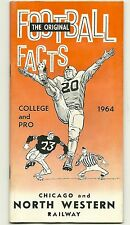 1964 College & Pro FOOTBALL FACTS booklet Roger Staubach DICK BUTKUS , YA Tittle