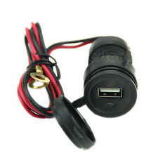Waterproof Motorcycle HandleBar Cellphone USB Charger Power Adapter 12V