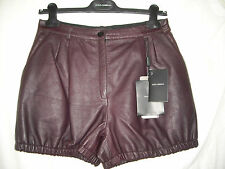 DOLCE AND GABBANA - LADIES LEATHER SHORTS - SIZE UK 10 ITALY 42