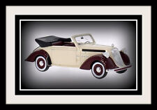 wonderful modelcar STEYR 220 CONVERTIBLE 1939 - beige/darkred -  1/43 - lim.ed.