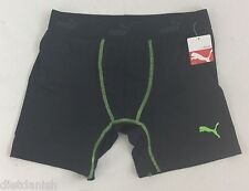 Puma MENS Athletic Boxer Brief Black Green Size L