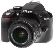 Nikon D D3300 24.2 MP Digital SLR Camera - Black (Kit w/ AF-S DX VR II 18-55mm L