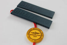 100% Genuine New Breitling  D/Blue Diver Pro 3 Rubber deployment Strap 22-20mm