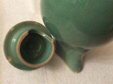 DENBY WARE COFFEE POT/JUG- MANOR GREEN - HAS CHIPS INSIDE OF LID & UNDER SPOUT