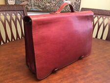 RALPH LAUREN Thick Saddle  Leather  Briefcase / Messenger Bag - Made In Italy