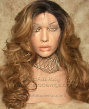 Dark Root honey blonde lace front Flawless, Kim Kardashian lace front wig, ombre