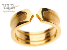 CARTIER RING DOPPEL-C-LOGO BAGUE GOLDRING GELBGOLD 18K./750 GOLD Gr.51 DAMENRING