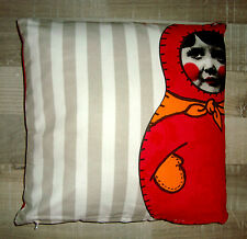 """COUSSIN CARRE 40 X 40 CM  """"ORVAL CREATIONS"""" POUPEES RUSSES MATRIOCHKA BABOUCHKA"""