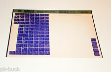 Microfich Ersatzteilkatalog Yamaha TDM 850 H / TDM 850 N ab 1992 Stand 11/1991