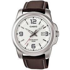 Casio Men Classic Brown Strap Watch.   MTP-1314L-7AVER