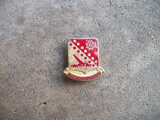 WWII Us Army Artillery Railroad Gun Arty Rail unit crest pin sterling DI RARE