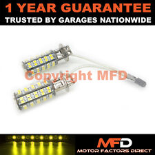 2X XENON YELLOW H3 60 SMD LED FOG LIGHT BULBS FOR LAND ROVER DEFENDER RANGE