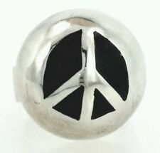 Vintage 925 sterling silver ring size 6 silver peace ring