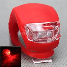 Roja Cáscara de Silicona Luz LED Flash para Rueda Trasera Bicicleta Buena Venta