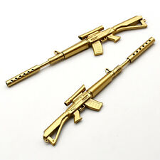 Creative Gold Rifle Shape Design Black Ink Ballpoint Pens Stationery Gift New