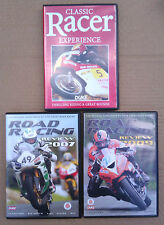 3 DVD`s ROAD RACING REVIEW 2007 & 2009 + RACER EXPERIENCE - MOTORCYCLE.