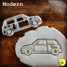 Modern Mini Cooper biscuit cutter cookie Fondant Sugarcraft topper Classic car