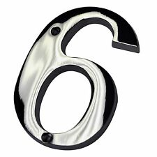 "4"" Inch Chrome #6 House Numbers Home Address Wholesale Number Door Sign Hardware"