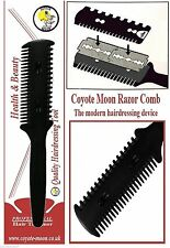 Hair Razor Comb,+ 10 Blades, Cut/Scissor/Hairdressing/Thinning/Steampunk/Emo.UK