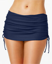 Island Escape Plus Size Ruched Swim Skirt, 24W