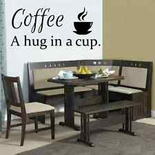 Coffee hug in a cup kitchen decal vinyl lettering wall quotes home art decor